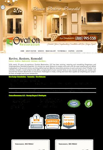 Ovation Restoration Vancouver WA